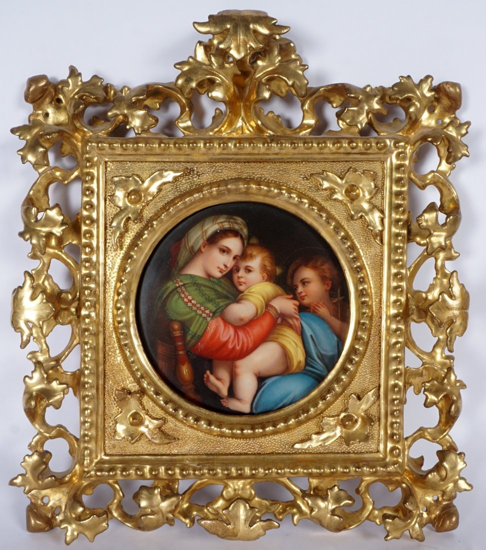 Italian Hand Painted Porcelain Plaque