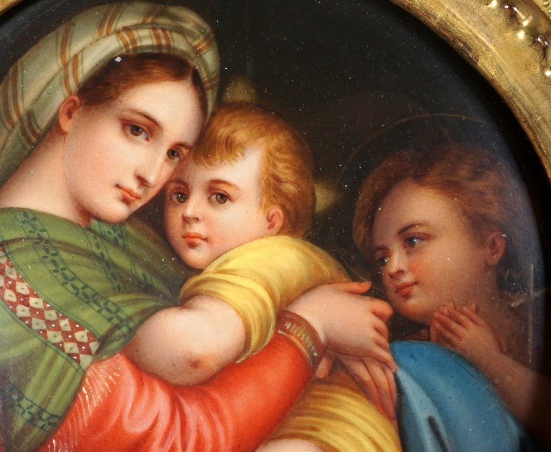 Italian Hand Painted Porcelain Plaque - 2