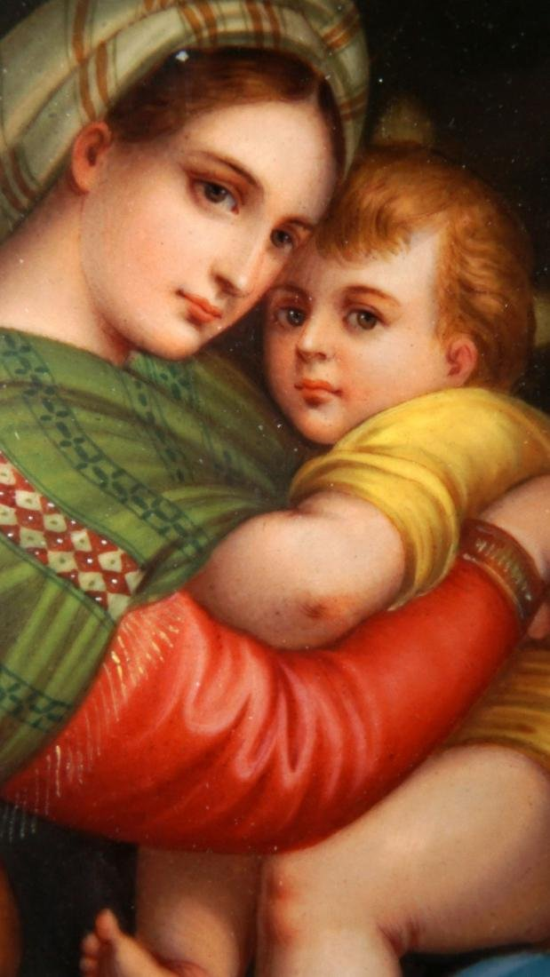 Italian Hand Painted Porcelain Plaque - 3