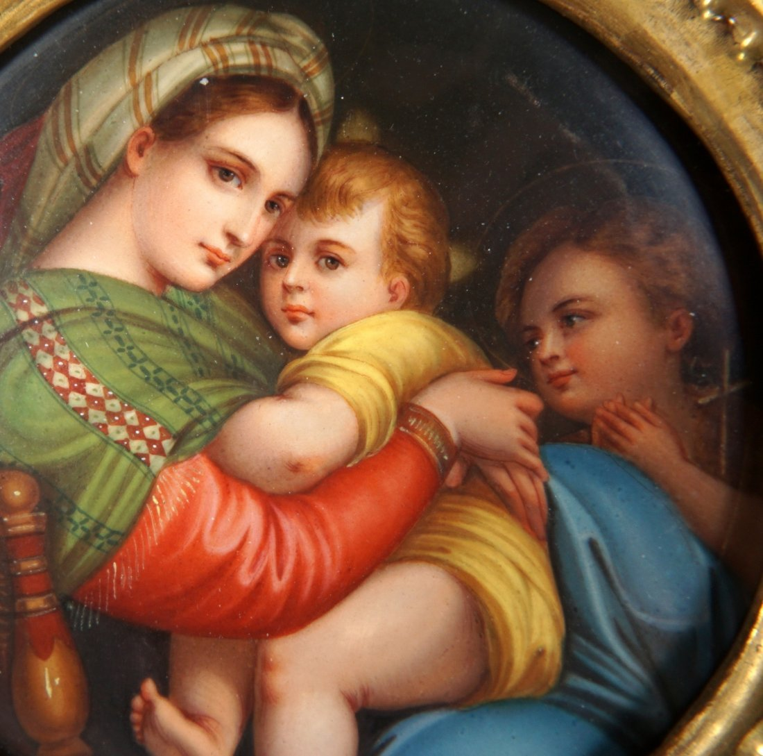 Italian Hand Painted Porcelain Plaque - 6