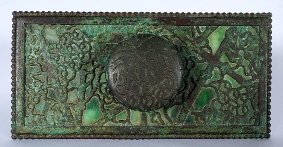 Tiffany Studios Bronze Grapevine Ink Blotter - 2