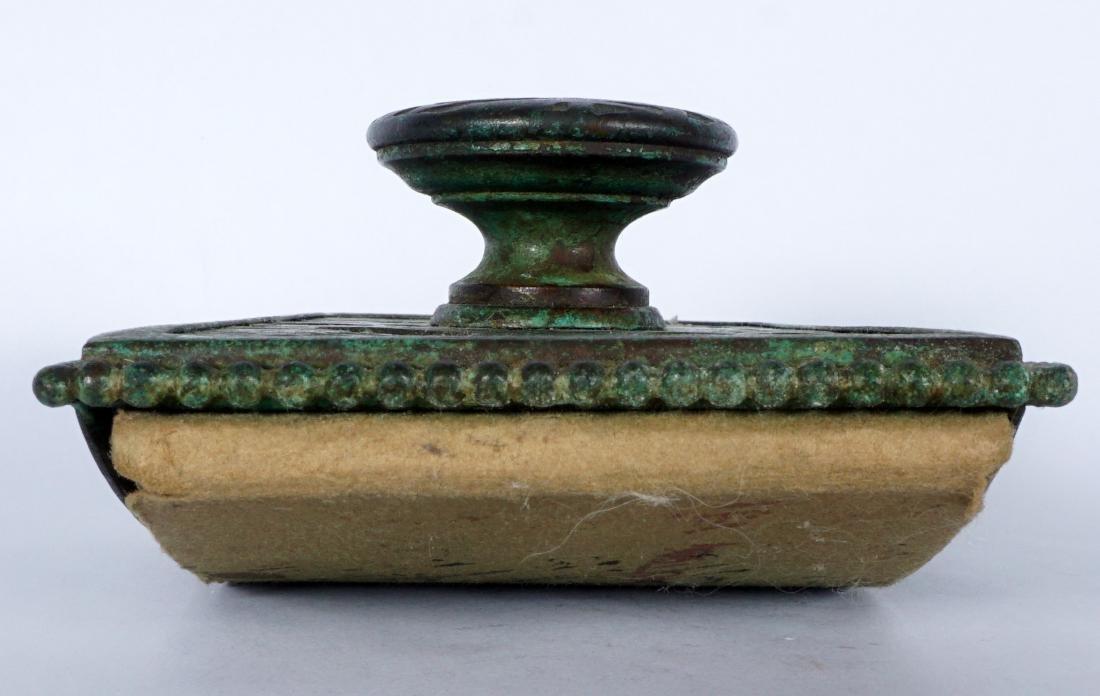 Tiffany Studios Bronze Grapevine Ink Blotter - 6