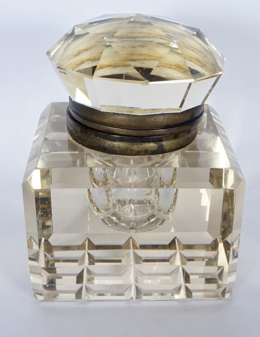 Victorian Oak Inkwell - 10