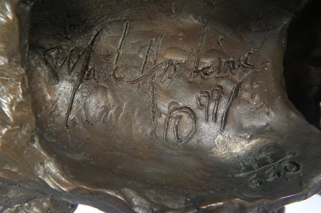 Mark Hopkins Cougar in Tree Bronze Sculpture - 5