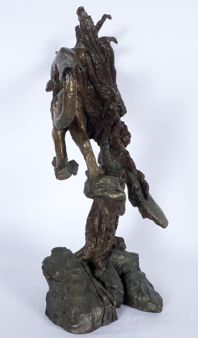 Mark Hopkins Cougar in Tree Bronze Sculpture - 7