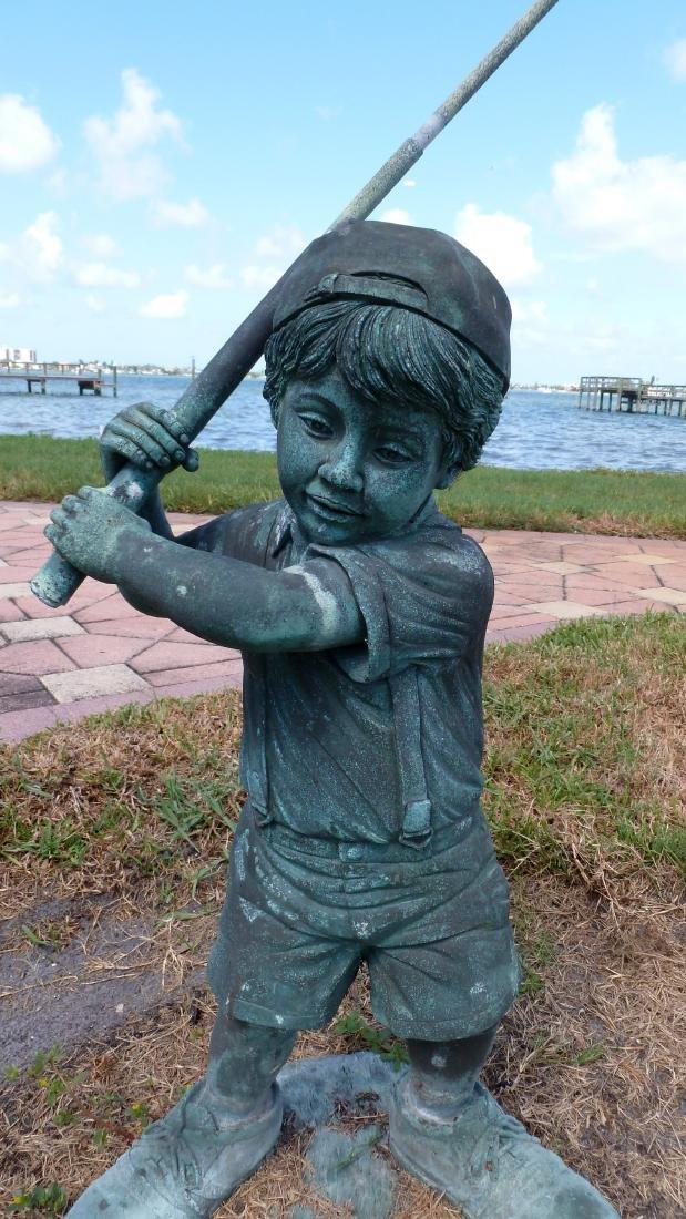 Garden Sculpture Bronze Boy Golfer - 2