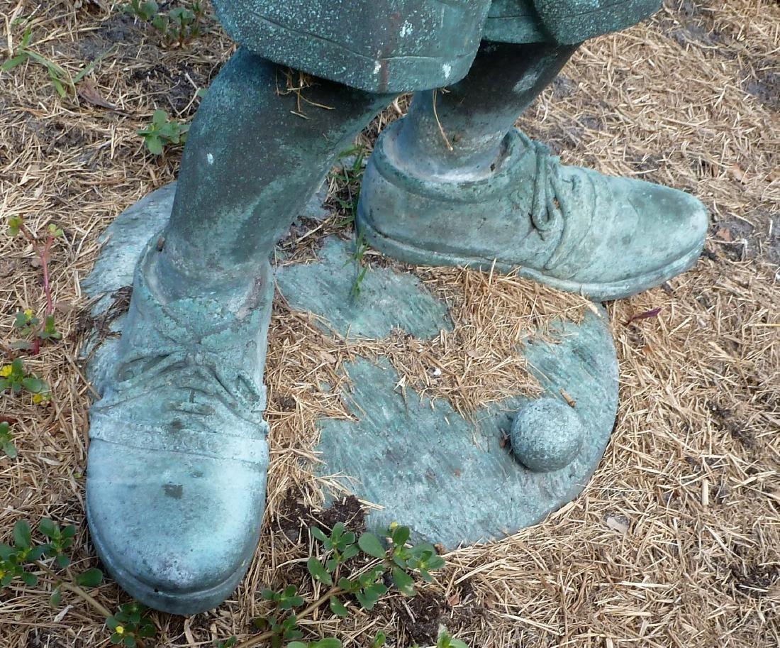 Garden Sculpture Bronze Boy Golfer - 5