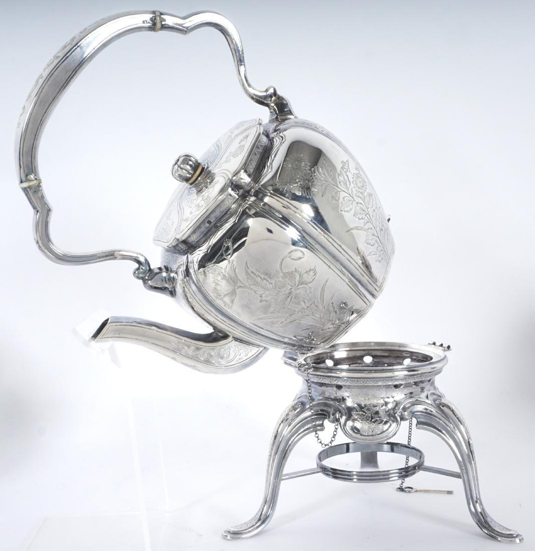 French Touron 5 Piece Silver Tea Service - 4