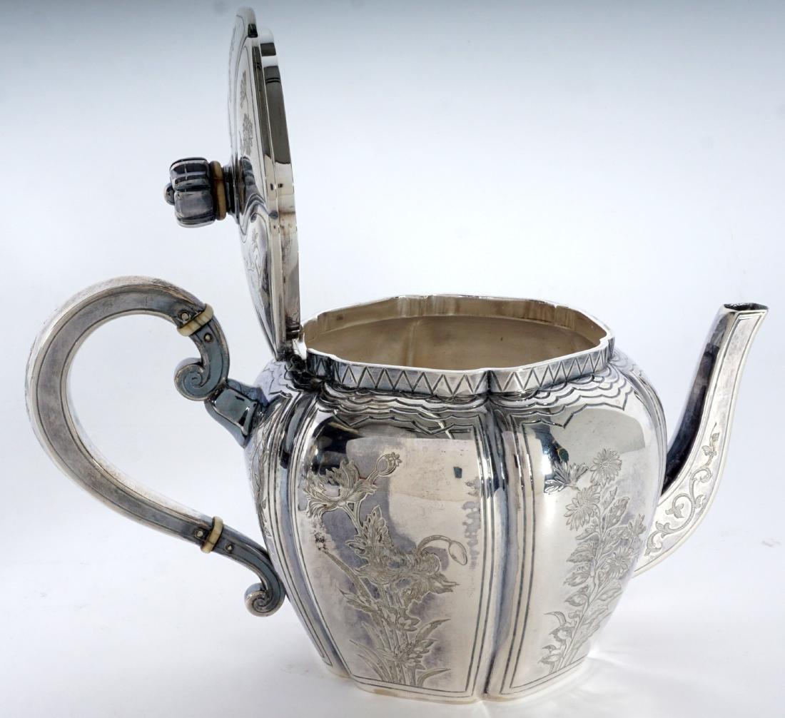French Touron 5 Piece Silver Tea Service - 6