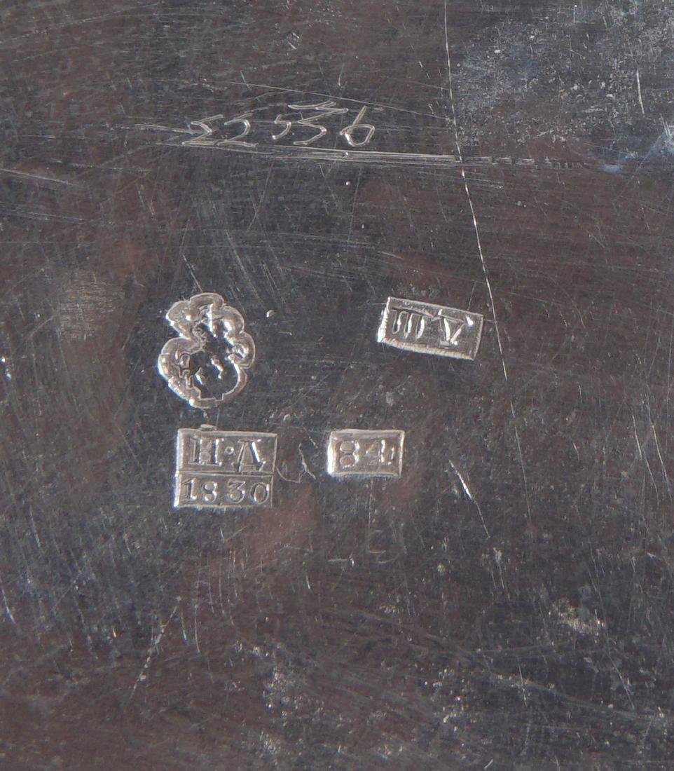 2 piece Russian Silver Table Items - 10