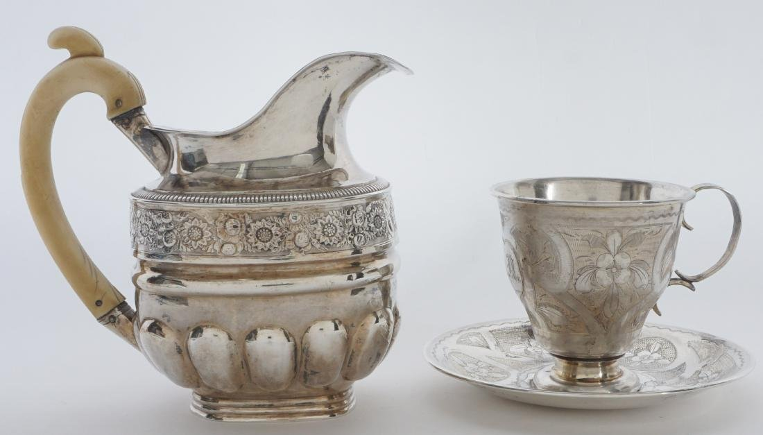 2 piece Russian Silver Table Items