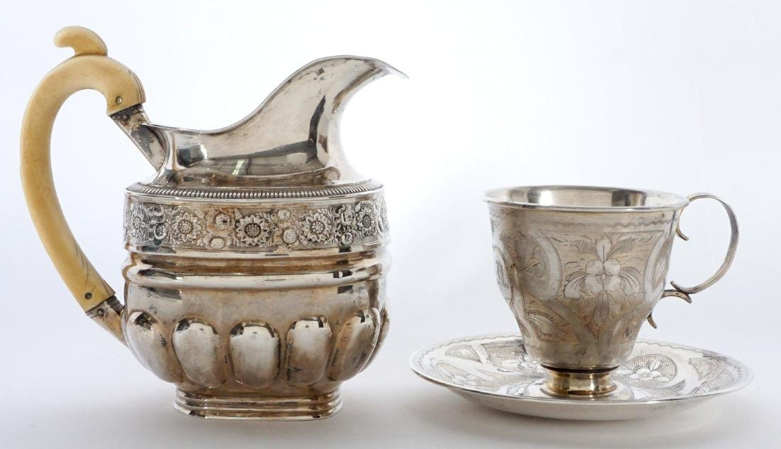 2 piece Russian Silver Table Items - 2