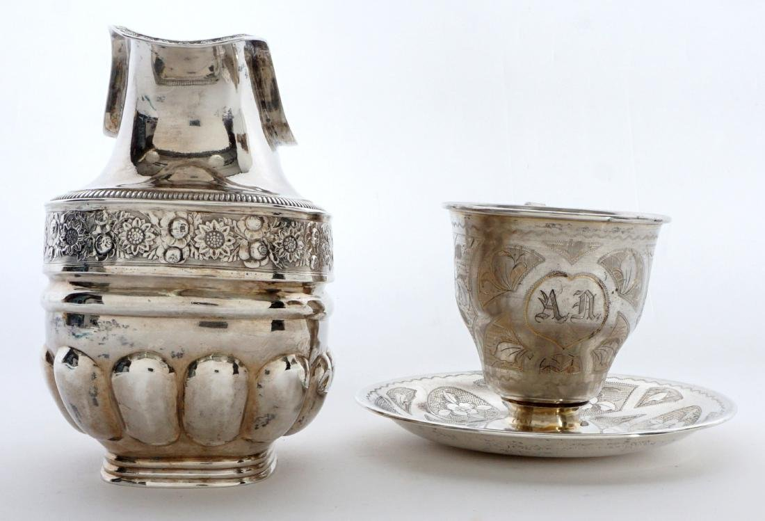 2 piece Russian Silver Table Items - 3