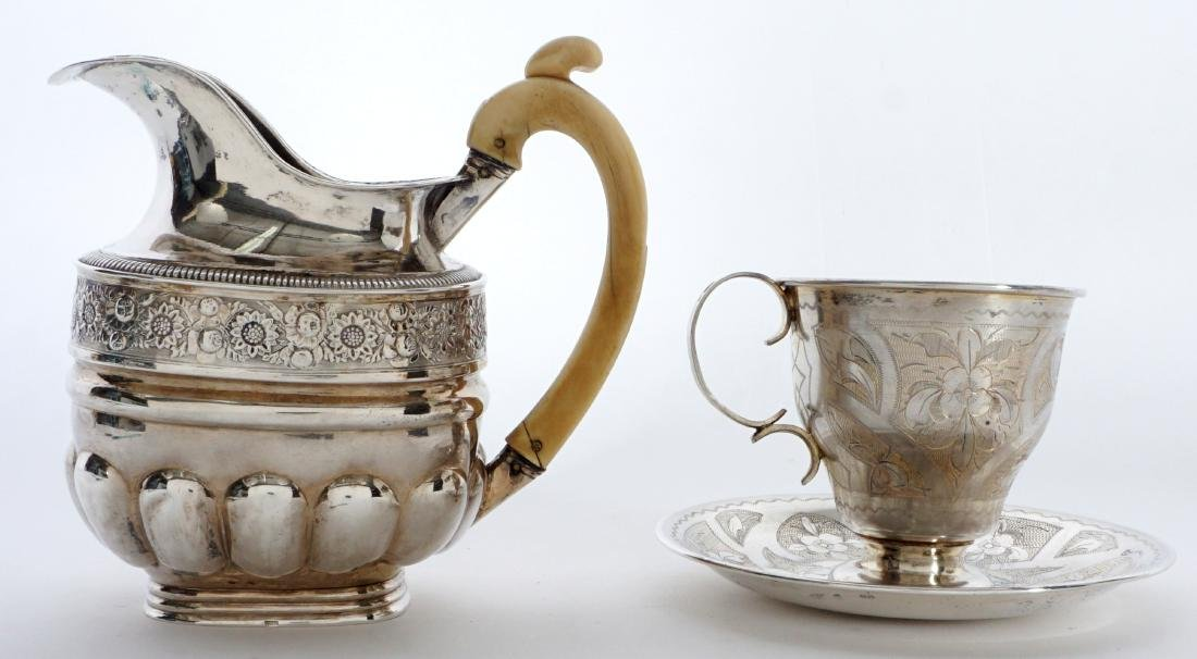 2 piece Russian Silver Table Items - 4