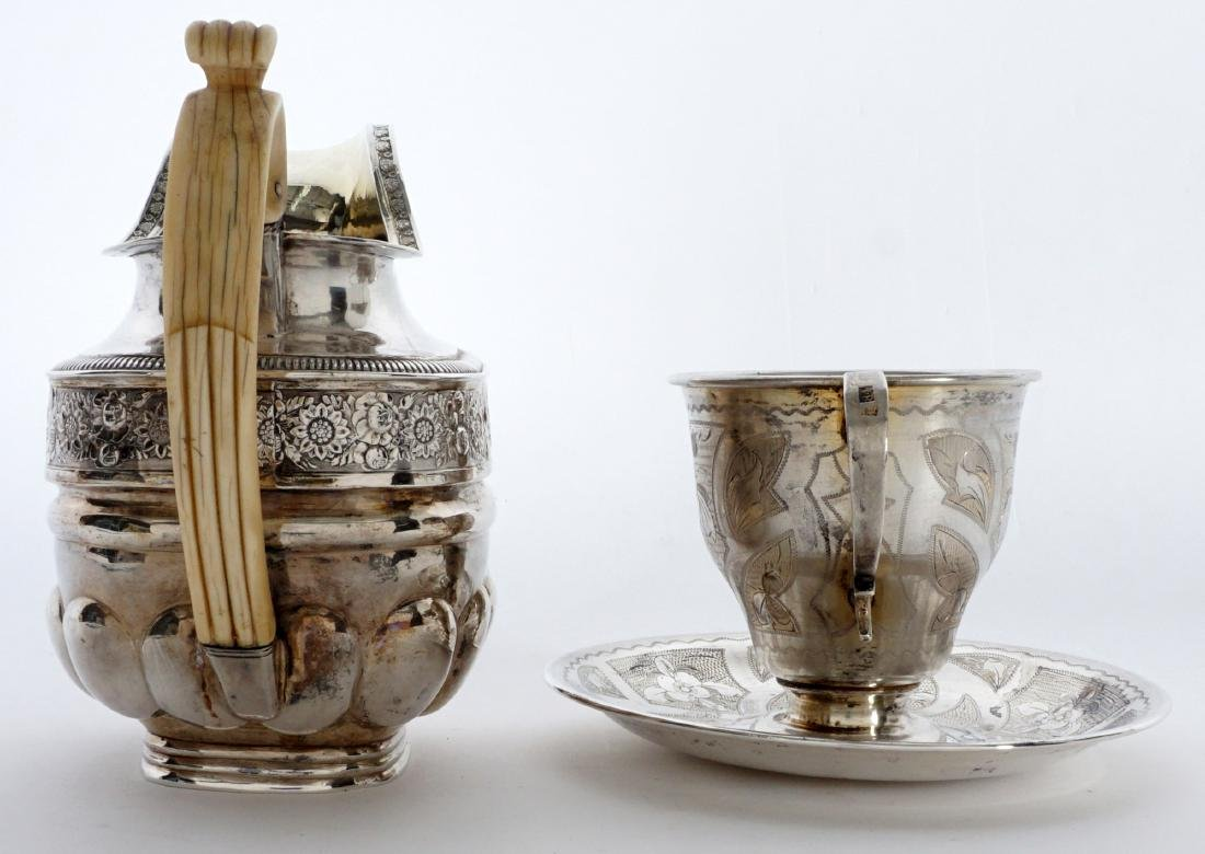 2 piece Russian Silver Table Items - 5