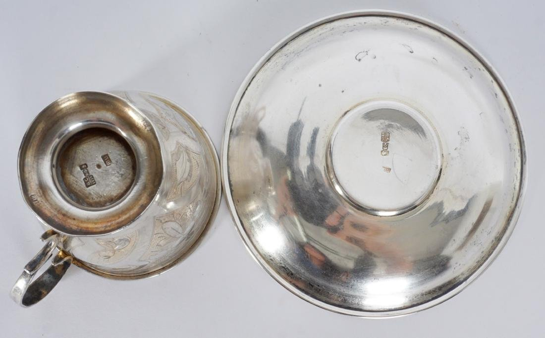 2 piece Russian Silver Table Items - 8