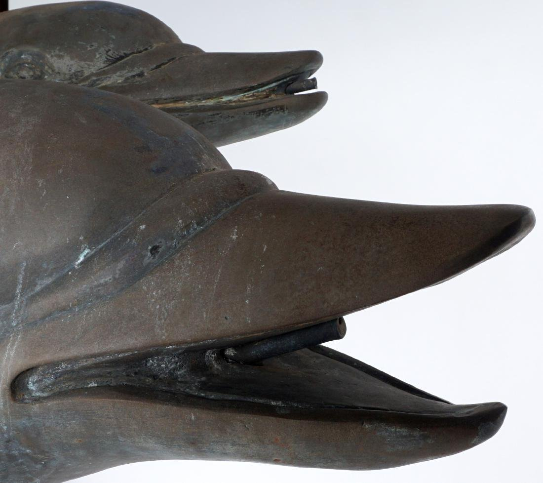 Large Triple Dolphin Bronze Outdoor Fountain - 9