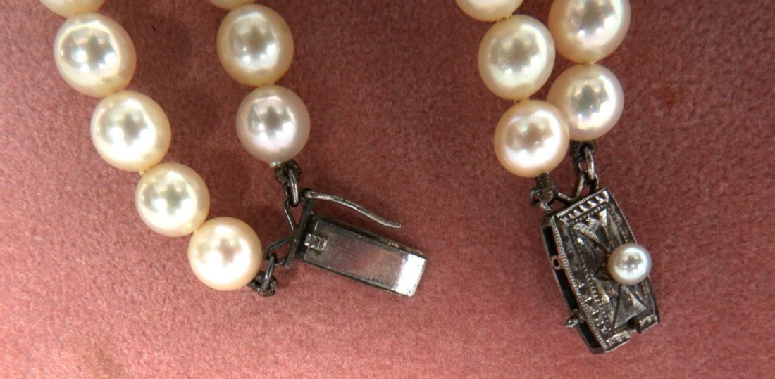 Mikimoto Pearl Suite Necklace and Earrings - 2