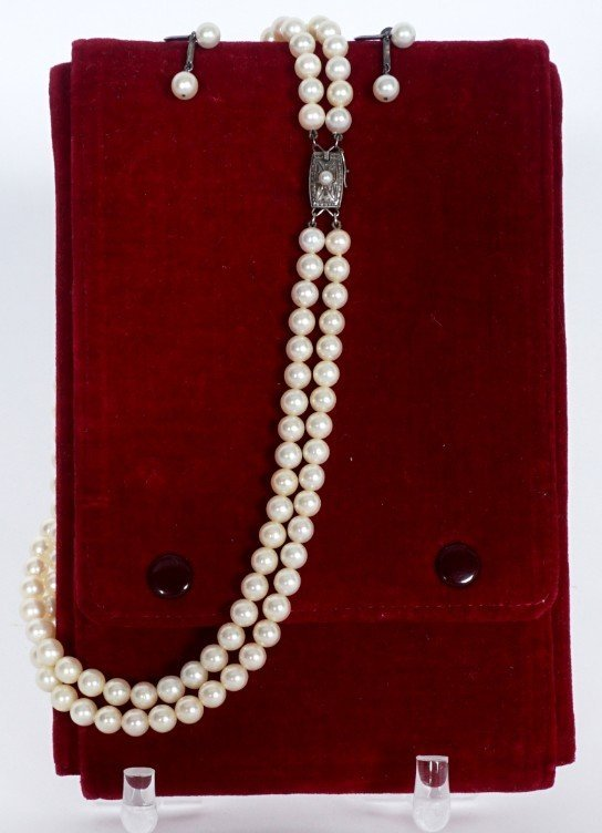 Mikimoto Pearl Suite Necklace and Earrings - 3