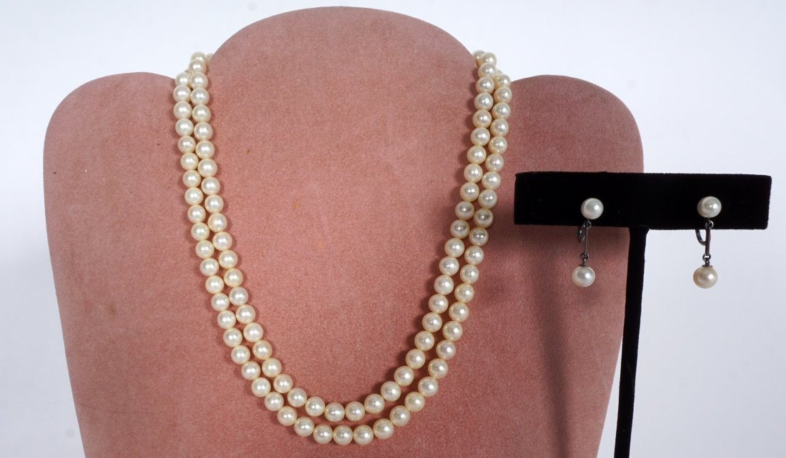Mikimoto Pearl Suite Necklace and Earrings - 5