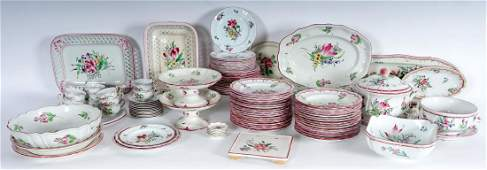 Large Luneville French Faience China Service
