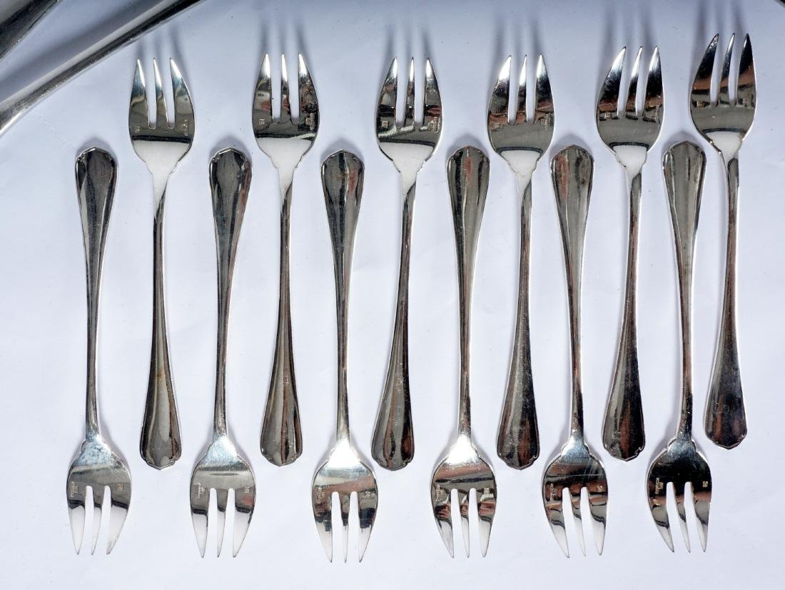 Christofle Silverplate Flatware Service - 2