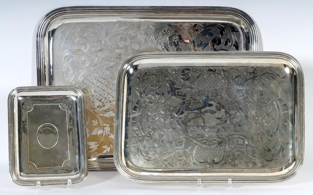 3 Christofle Silverplate Tray