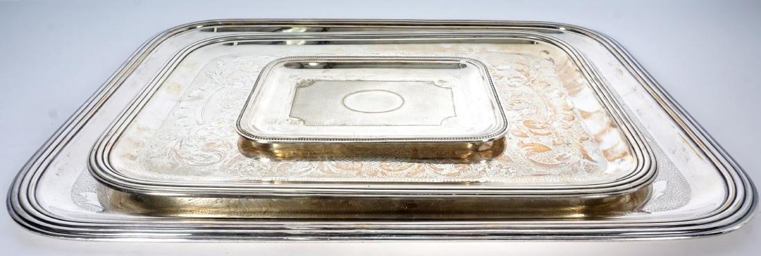 3 Christofle Silverplate Tray - 2