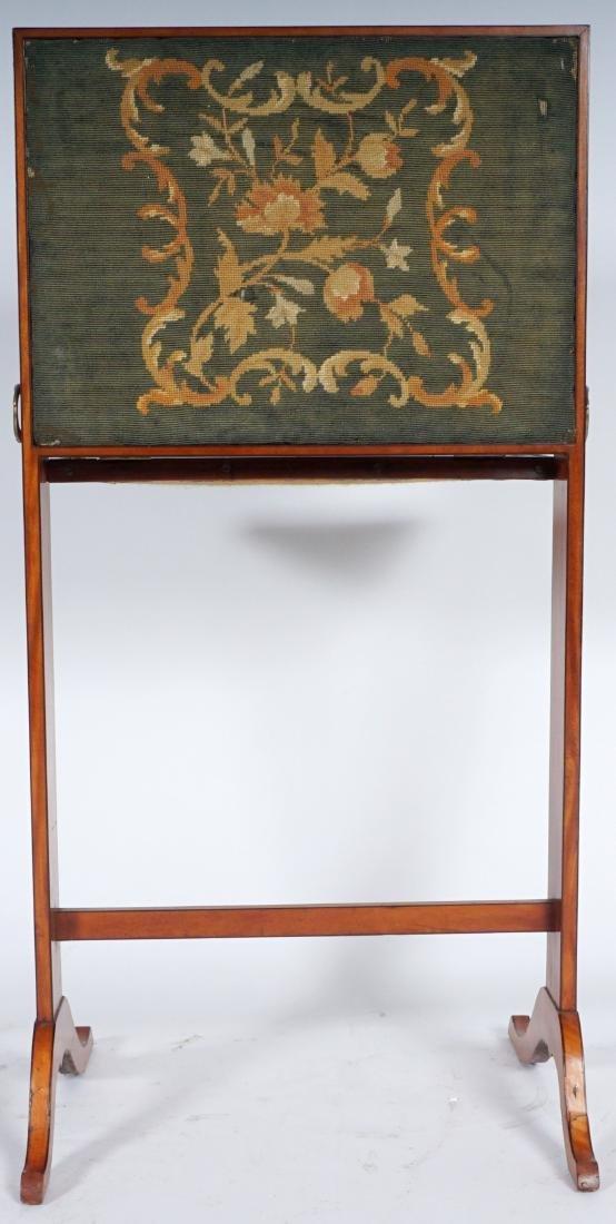 18th Century English Satinwood Fire Screen Desk