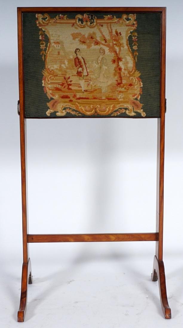 18th Century English Satinwood Fire Screen Desk - 2