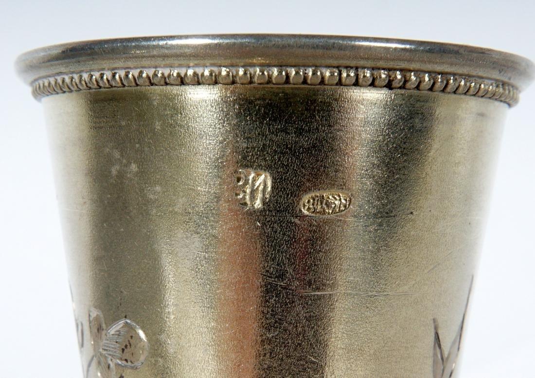 Russian Silver Vodka Flute - 9