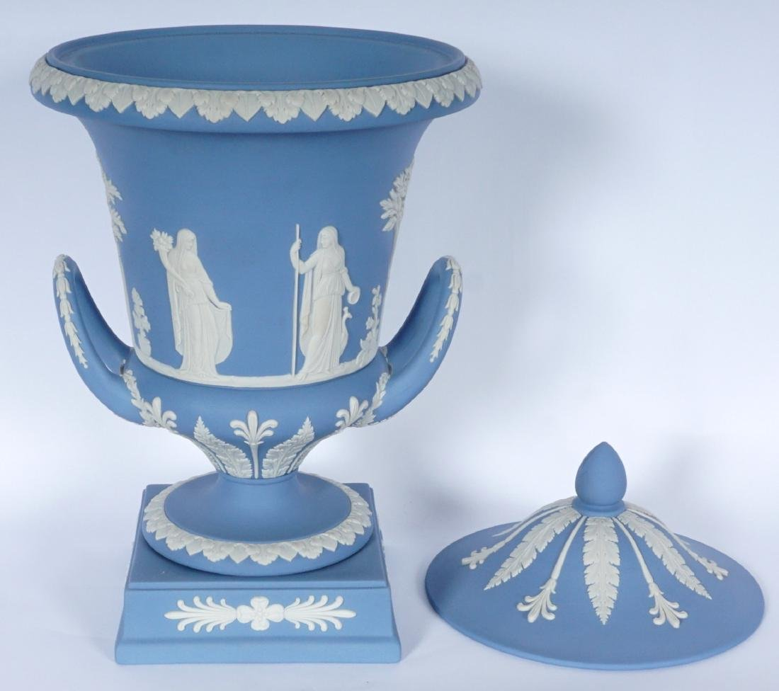 Wedgwood Jasperware Covered Urn - 2