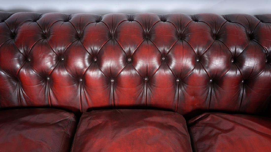 Red Leather Chesterfield Sofa - 2