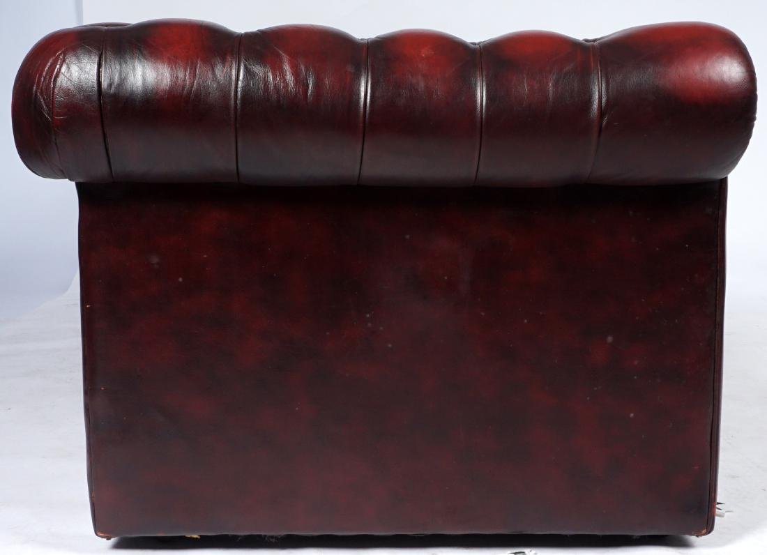 Red Leather Chesterfield Sofa - 6