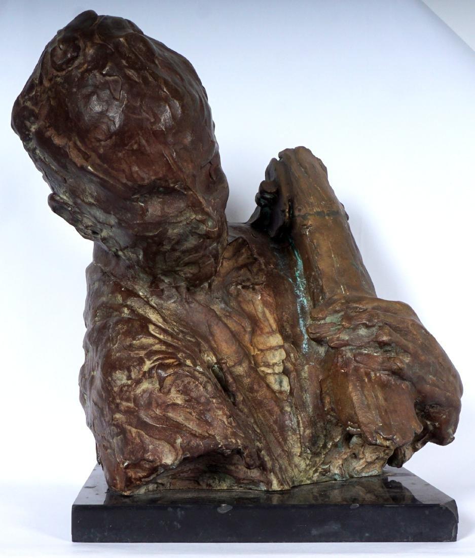 Stanely Bleifeld Bronze Bust Sculpture - 2