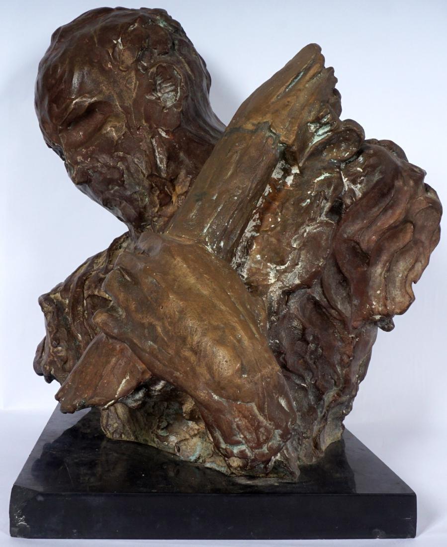 Stanely Bleifeld Bronze Bust Sculpture - 3