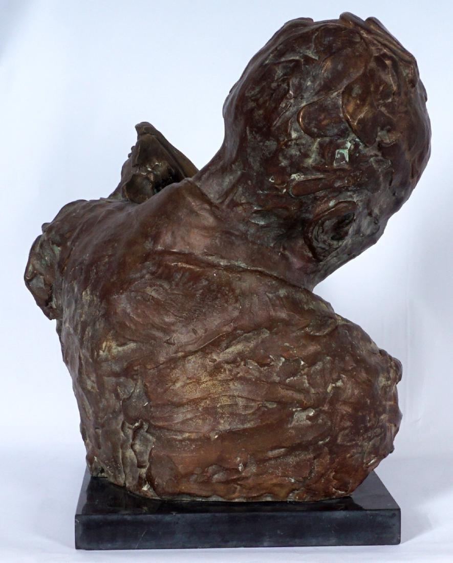Stanely Bleifeld Bronze Bust Sculpture - 5