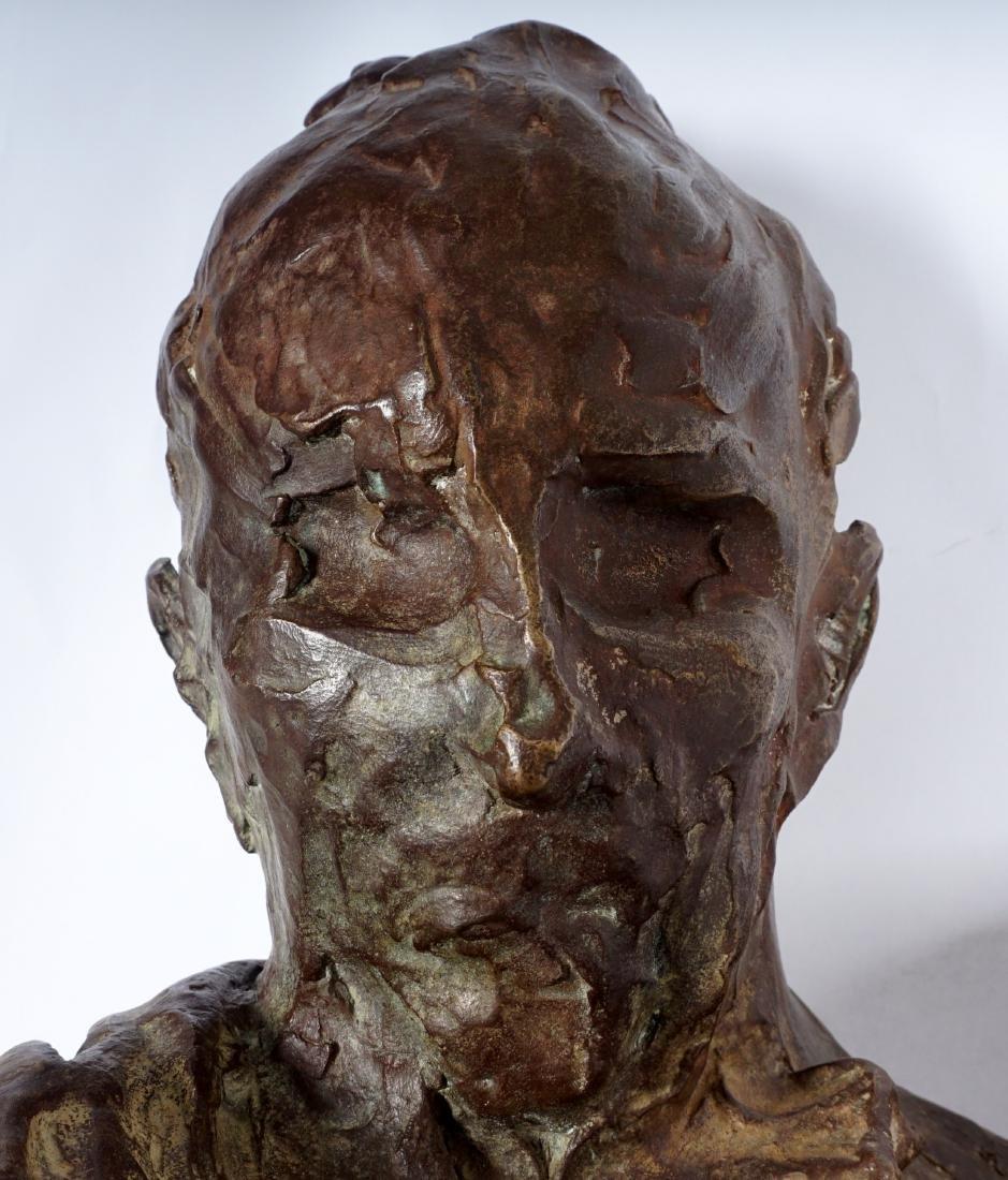 Stanely Bleifeld Bronze Bust Sculpture - 6
