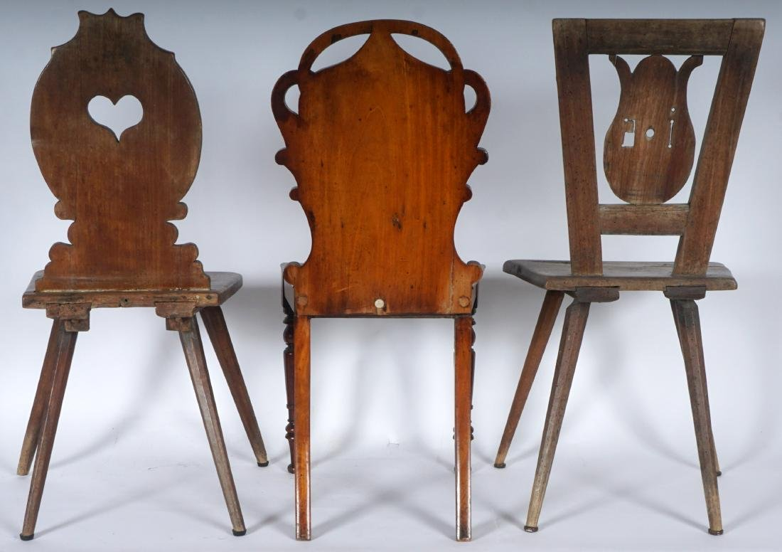 Three 19th Century Carved Hall Chairs - 5