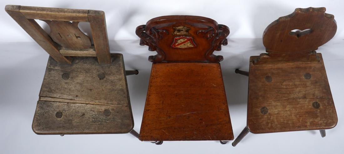 Three 19th Century Carved Hall Chairs - 6