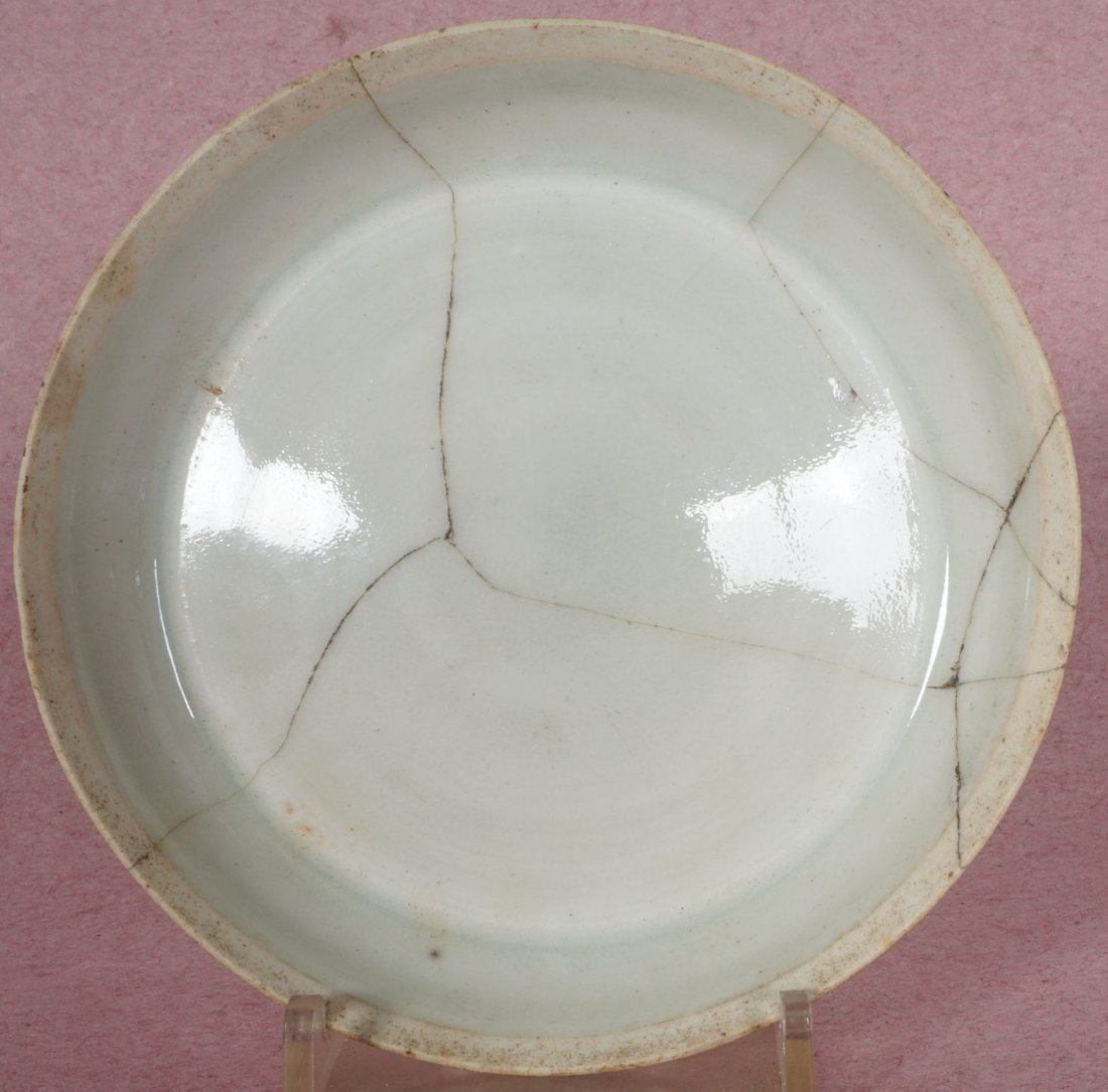 3 Chinese Song Ding Ware White Glaze Dishes - 7