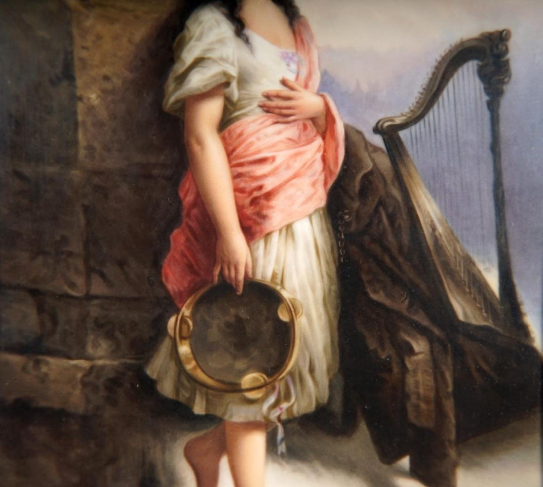 KPM Porcelain Plaque of Gypsy With Tambourine - 5