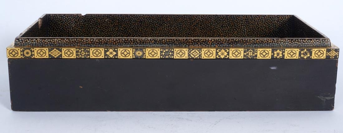 Japanese Meiji Mixed Metal Lacquer Box - 3