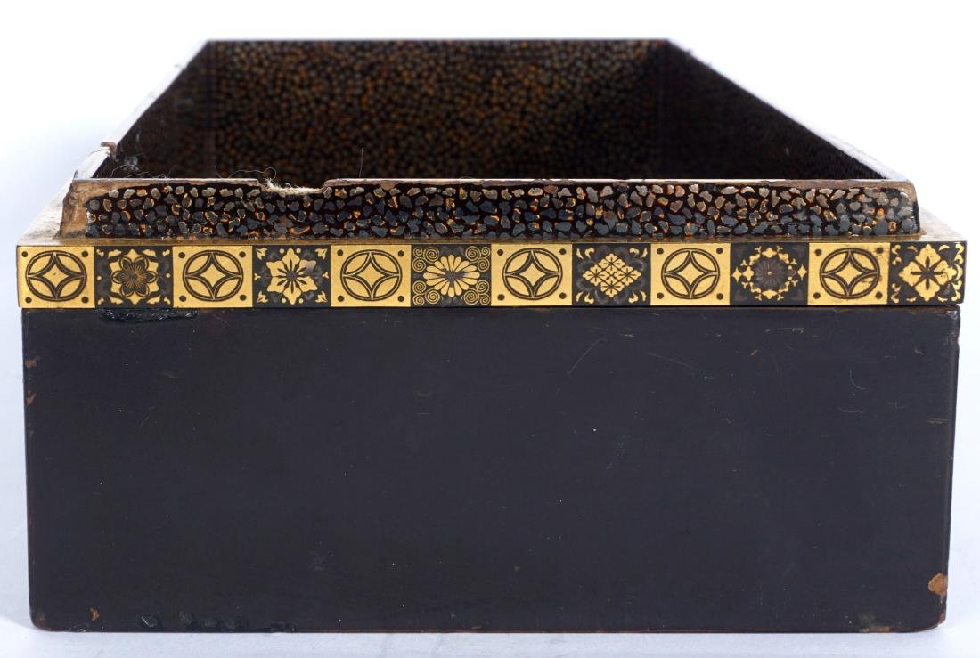 Japanese Meiji Mixed Metal Lacquer Box - 4