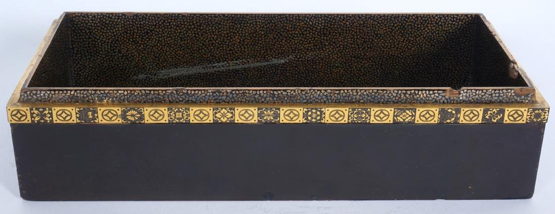 Japanese Meiji Mixed Metal Lacquer Box - 5