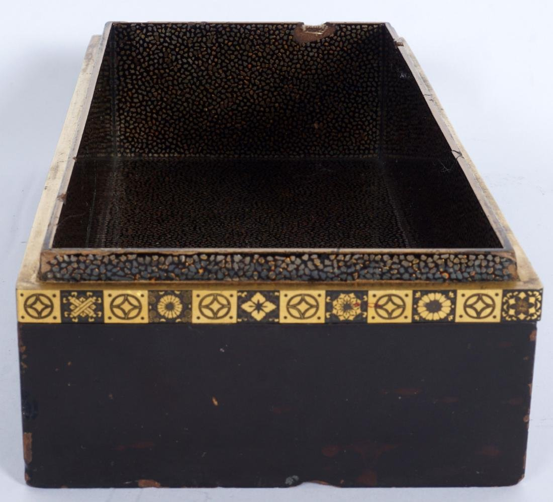 Japanese Meiji Mixed Metal Lacquer Box - 6