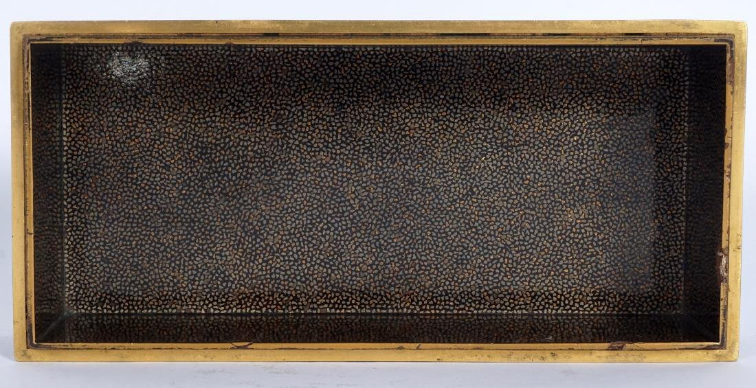 Japanese Meiji Mixed Metal Lacquer Box - 7