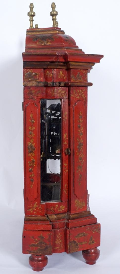 Continental Red Chinoiserie Bracket Clock - 10