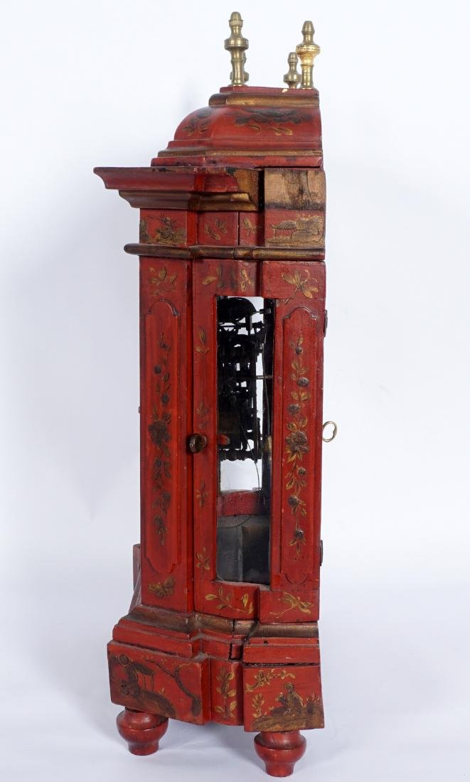 Continental Red Chinoiserie Bracket Clock - 5