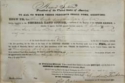 1830 Andrew Jackson Signed Land Grant